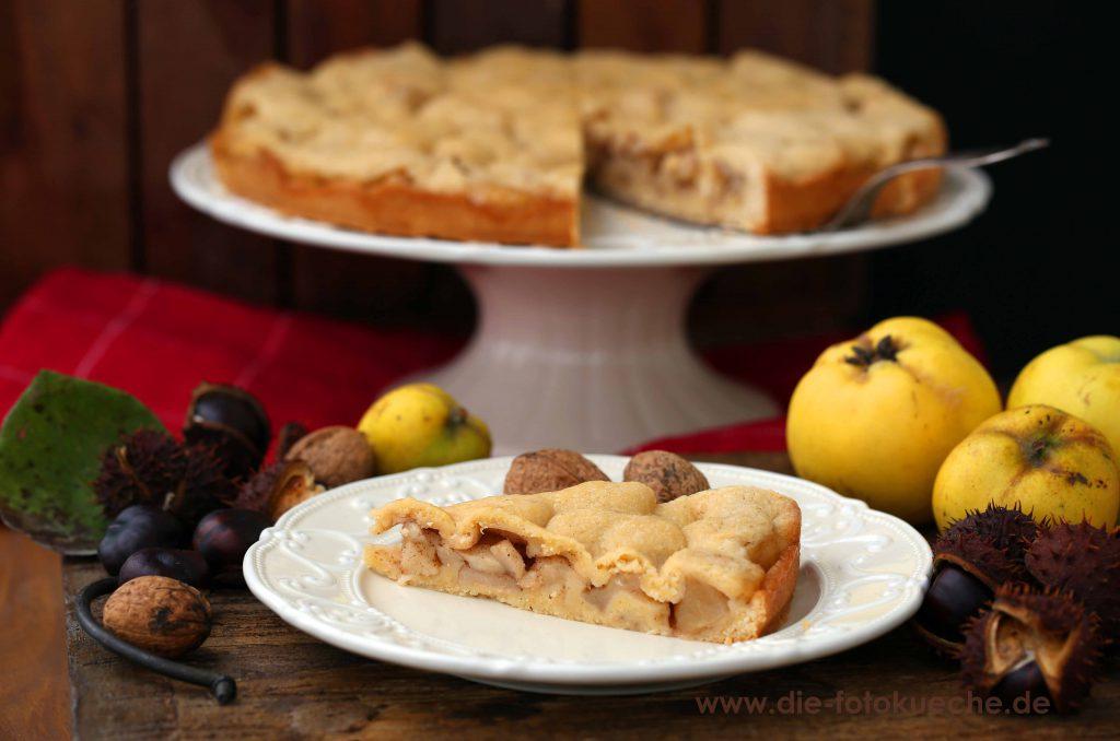Gedeckter Quittenkuchen